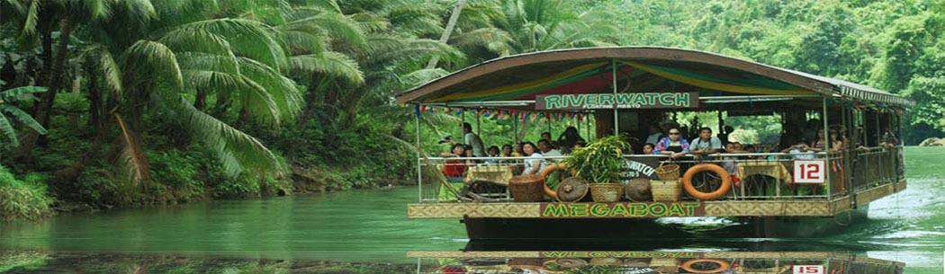 Loboc River Cruise - Enjoy an idyllic cruise aboard a floating restaurant along the Loboc River. Be enthralled by the captivating view of tropical palms and trees while being treated to a sumptuous lunch and music.